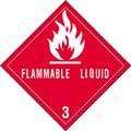 """""""Flammable Liquids - 3"""" D.O.T. Hazard Labels"""