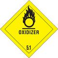 """Oxidizer - 5.1"" D.O.T. Hazard Labels"
