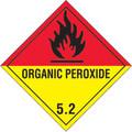 """Organic Peroxide - 5.2"" D.O.T. Hazard Labels"