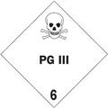 """PG III - 6"" D.O.T. Hazard Labels"