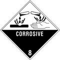 """Corrosive - 8"" D.O.T. Hazard Labels"