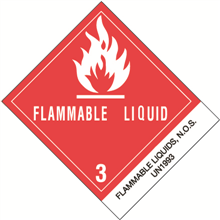 """Flammable Liquids, N.O.S."" Pre-Printed D.O.T.  Labels"
