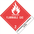 """Compressed Gases, Flammable, N.O.S."" Pre-Printed DOT Labels"