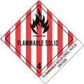"""Flammable Solids, N.O.S."" PrePrinted D.O.T. Labels"