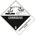 """Corrosive Liquids, N.O.S."" Pre-Printed DOT Labels"