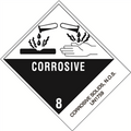 """Corrosive Solids, N.O.S."" Pre-Printed D.O.T. Labels"