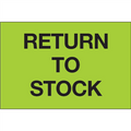 """Return To Stock"" (Fluorescent Green) Pre-Printed Inventory Control Labels"