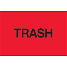 """""""Trash"""" (Fluorescent Red) Pre-Printed Inventory Control Labels"""