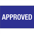 "2"" x 3"" - ""Approved"" Pre-Printed Inventory Control Labels"