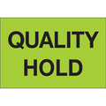 """Quality Hold"" (Fluorescent Green) Pre-Printed Inventory Control Labels Roll / 500"