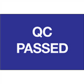 """QC Passed"" Pre-Printed Inventory Control Labels"