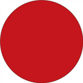 Red Circle Inventory Label - Round Inventory Stickers