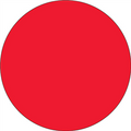 Fluorescent Red Circle Inventory Label - Round Inventory Stickers