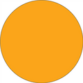 Fluorescent Orange Circle Inventory Label - Round Inventory Stickers