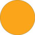 Fluorescent Orange Circle Inventory Label - Round Inventory Stickers