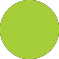 Fluorescent Green Circle Inventory Label - Round Inventory Stickers
