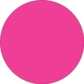 Fluorescent Pink Circle Inventory Label - Round Inventory Stickers