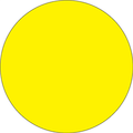 Fluorescent Yellow Circle Inventory Label - Round Inventory Stickers