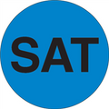 """SAT"" - Day of the Week Circle Labels Blue"