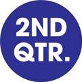 "2"" Circle - ""2ND QTR."" (Dark Blue) Quarter Labels"