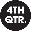 "2"" Circle - ""4TH QTR."" (Black) Quarter Labels"