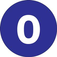 "2"" Circle - ""0"" (Dark Blue) Inventory Number Labels"