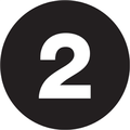 "2"" Circle - ""2"" (Black) Inventory Number Labels"