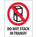 """""""Do Not Stack In Transit"""" International Safe-Handling Labels"""