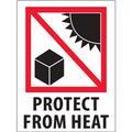 """""""Protect from Heat""""  International Safe-Handling Labels"""