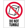 """3"""" x 4"""" - """"Do Not Tumble"""" Safe-Handling Labels"""