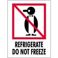"""""""Refrigerate - Do Not Freeze"""" International Safe-Handling Labels"""