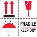 """""""Fragile - Keep Dry"""" International Safe-Handling Labels"""
