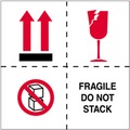 """""""Fragile - Do Not Stack"""" International Safe-Handling Labels"""