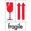 """4"""" x 6"""" - """"Fragile"""" International Safe-Handling Labels"""