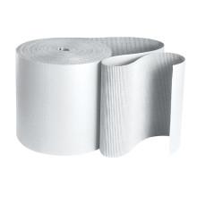 "250' x 48"" White Singleface Corrugated B Flute Cardboard Roll"