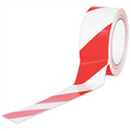 Striped Vinyl Safety Tape Danger / Fire Tape Red and White