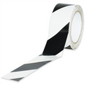 Striped Vinyl Safety Tape Boundaries / Housekeeping Tape Black and White
