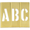 "3"" Brass Stencil Letters 3"" Brass Stencil Numbers, Interlocking Brass Stencils"