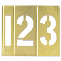 "1"" Number Only Brass Stencils. Interlocking Brass Stencils"