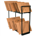 Two Tier Carton Stand, Box Storage Rack