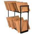 Two Tier Carton Stand, Box Storage Rack