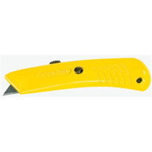 Safety Grip Utility Knife - Yellow Retractable Utility Knife
