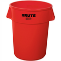 "Rubbermaid® Brute® Trash Can - 32 Gallon, Red 28"" x 22"""