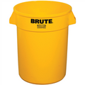 "Rubbermaid® Brute® Trash Can - 32 Gallon, Yellow 28"" x 22"""
