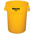 "Rubbermaid® Brute® Trash Can - 44 Gallon, Yellow 32"" x 24"""