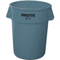 "Rubbermaid® Brute® Trash Can - 55 Gallon, Gray 33"" x 26"""