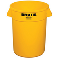 "Rubbermaid® Brute® Trash Can - 55 Gallon, Yellow 33"" x 26"""