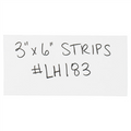 "3"" x 6"" White  Warehouse Labels - Magnetic Strips"