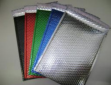 Metallic Self Seal Bubble Mailers Envelopes. Black, Blue, Red & Silver Foil Blingvelopes.