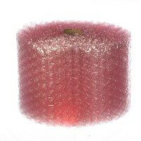 "1/2"" Large Anti-Static Pink Bubble Cushioning Wrap Perforated every 12""."